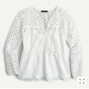 NWT J. Crew tiered top in embroidered eyelet